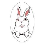 Pocket Easter Bunny Sticker (Oval)