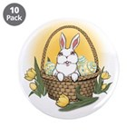 "Easter Bunny Cute Pocket Rab 3.5"" Button (10 pack)"