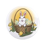 "Easter Bunny Cute Pocket Rabbit 3.5"" Button"
