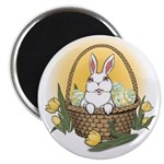 "Easter Bunny Cute Pocket Ra 2.25"" Magnet (10 pack)"