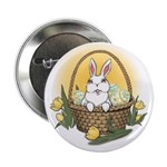 "Easter Bunny Cute Pocket Ra 2.25"" Button (10 pack)"