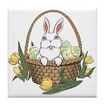 Pocket Easter Bunny Tile Coaster