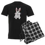 Easter Bunny Men's Dark Pajamas
