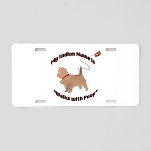 Cairn Terrier Poop Aluminum License Plate
