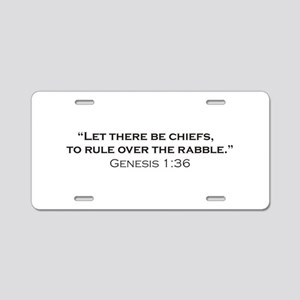 Chiefs / Genesis Aluminum License Plate
