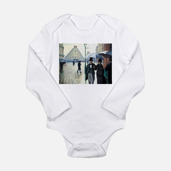 Paris Street, Rainy Day Long Sleeve Infant Bodysui