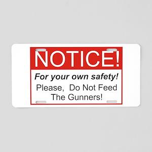 Notice / Gunners Aluminum License Plate