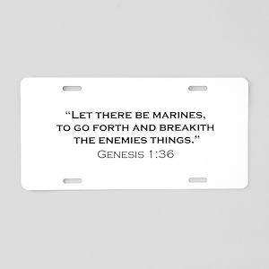 Marine / Genesis Aluminum License Plate