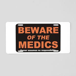 Beware / Medic Aluminum License Plate
