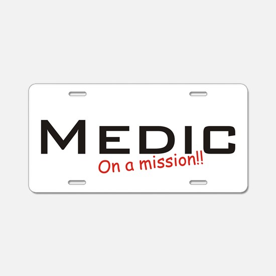 Medic/Mission Aluminum License Plate