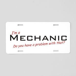 Mechanic /Problem! Aluminum License Plate