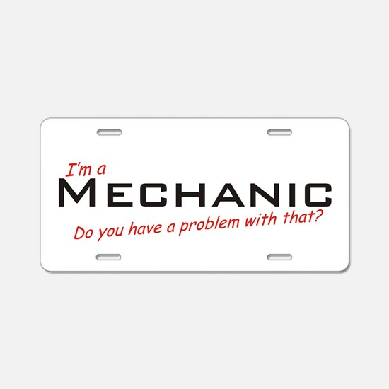 Mechanic /Problem! Aluminum License Plate