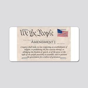 Amendment I Aluminum License Plate