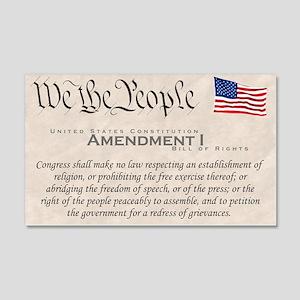 Amendment I 22x14 Wall Peel