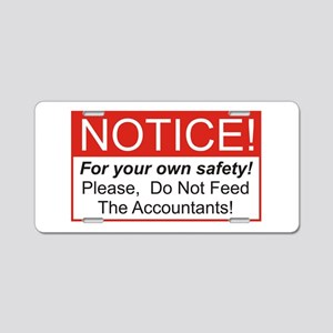 Notice / Accountants Aluminum License Plate