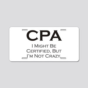 CPA #3 Aluminum License Plate