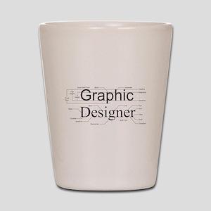 Graphic Designer Shot Glass