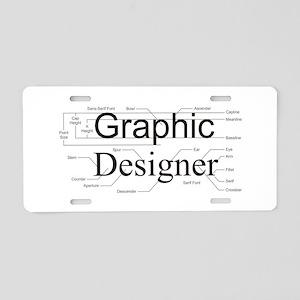 Graphic Designer Aluminum License Plate