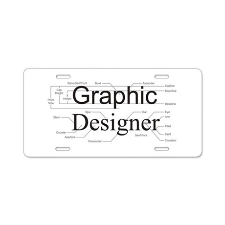 Graphic Designer Aluminum License Plate by wageslavegifts