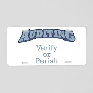 Auditing / Verify Aluminum License Plate