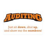 Auditing-Numbers 38.5 x 24.5 Wall Peel