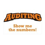 Auditing / Numbers 38.5 x 24.5 Wall Peel
