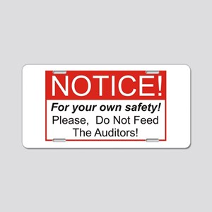 Notice / Auditors Aluminum License Plate