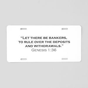 Banker / Genesis Aluminum License Plate