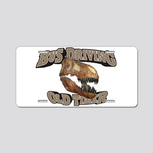 Bus Driving Old Timer Aluminum License Plate