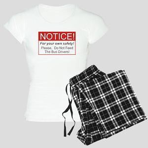 Notice / Bus Drivers Women's Light Pajamas