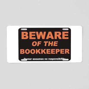Beware / Bookkeeper Aluminum License Plate