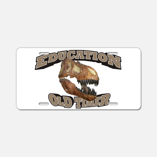 Education Old Timer Aluminum License Plate