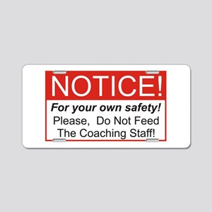 Notice / Coach Aluminum License Plate