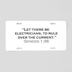 Electricians / Genesis Aluminum License Plate