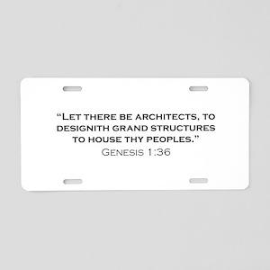 Architect / Genesis Aluminum License Plate