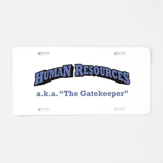 HR / Gatekeeper Aluminum License Plate