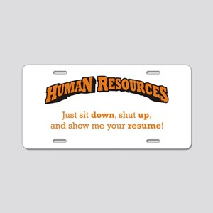 Human Resources / Sit Aluminum License Plate