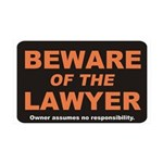 Beware / Lawyer 38.5 x 24.5 Wall Peel