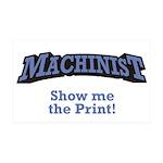 Machinist / Print 38.5 x 24.5 Wall Peel