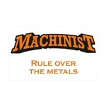 Machinist / Metals 38.5 x 24.5 Wall Peel