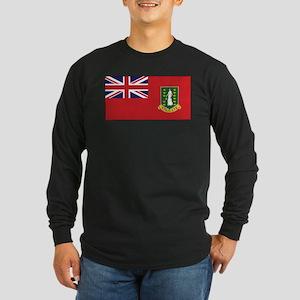 BVI Civil Ensign Long Sleeve Dark T-Shirt