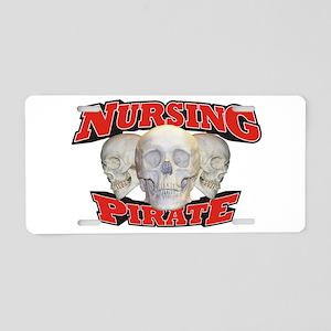 Nursing Pirate Aluminum License Plate