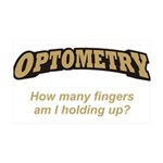 Optometry / Fingers 38.5 x 24.5 Wall Peel