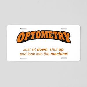 Optometry / Machine Aluminum License Plate