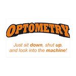 Optometry / Machine 38.5 x 24.5 Wall Peel