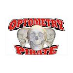 Optometry Pirate 38.5 x 24.5 Wall Peel