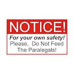 Notice / Paralegals 38.5 x 24.5 Wall Peel