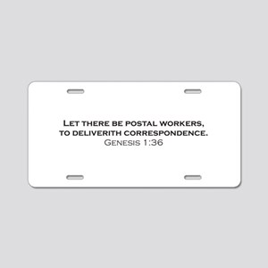 Postal Workers / Genesis Aluminum License Plate