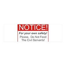Notice / Civil Servants 42x14 Wall Peel