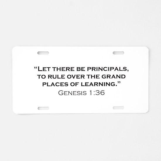 Principal / Genesis Aluminum License Plate